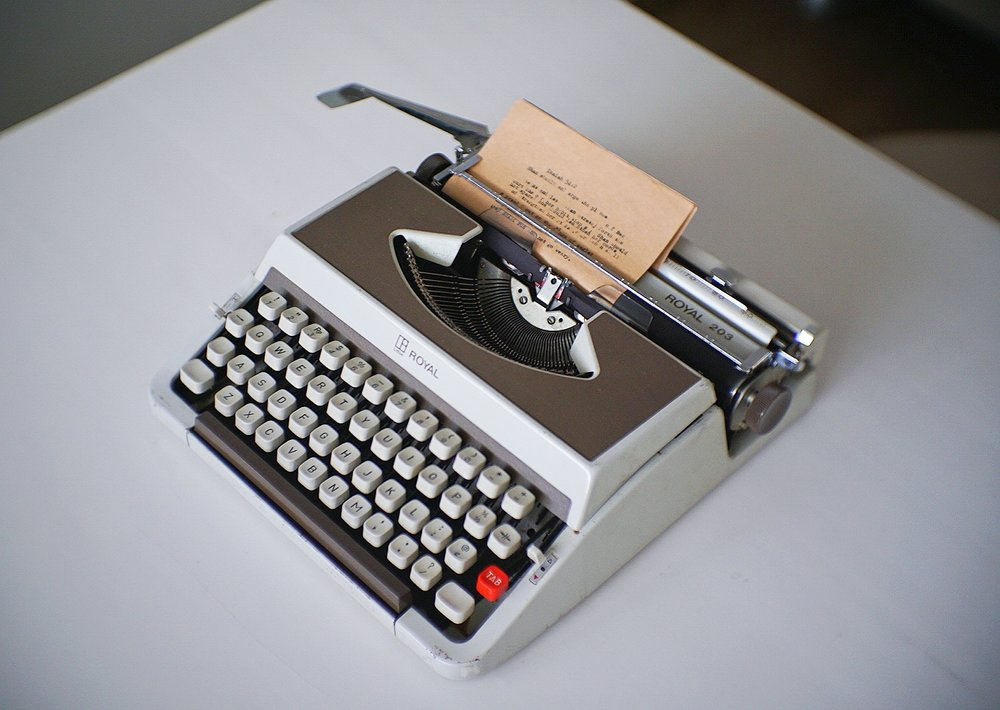 Typing on a typewriter removes distraction, because it  is the distraction .