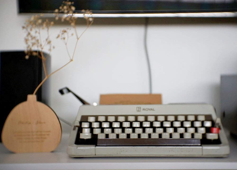 Let your creativity flow when using a typewriter.