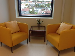 Therapy room at the Tasta Helseloft