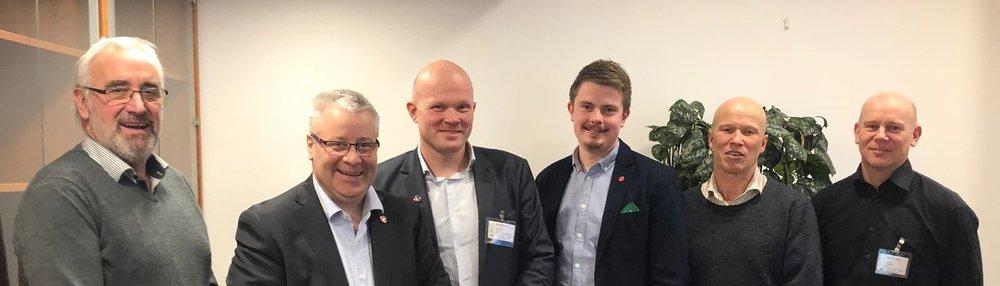 Fra venstre: Steinar Langesæter,Bård Hoksrud, Gunnar Singsaas, Rikard Gaarder Knutsen, Jan Borgnes og Torgeir Lande