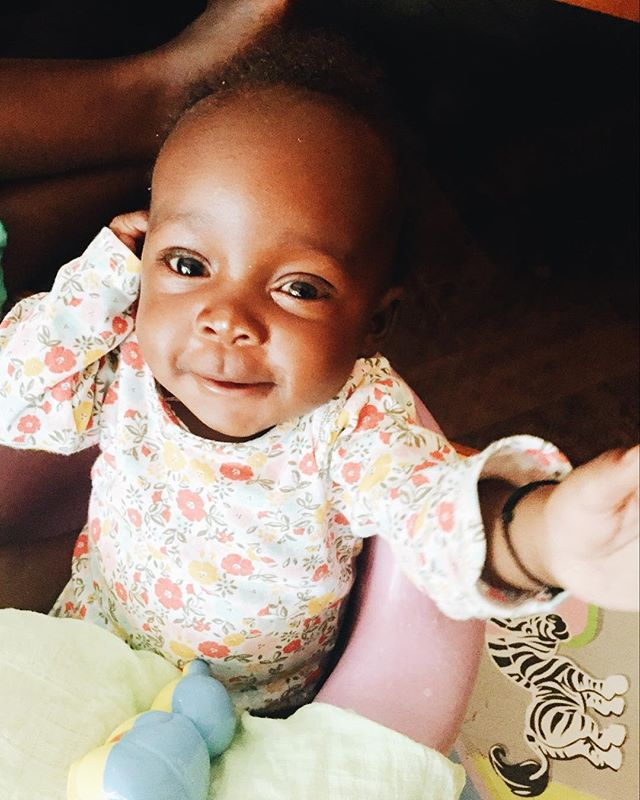 Another baby joined the Amani family. This is Sweet Caroline. She's quite possibly one of the happiest babies we've ever met! If you cuddle and talk to her, it's almost guaranteed that she'll reward you with huge smiles. Also, we now have 3 girls in our nursery! They're slowly gaining ground on our 4 baby boys.