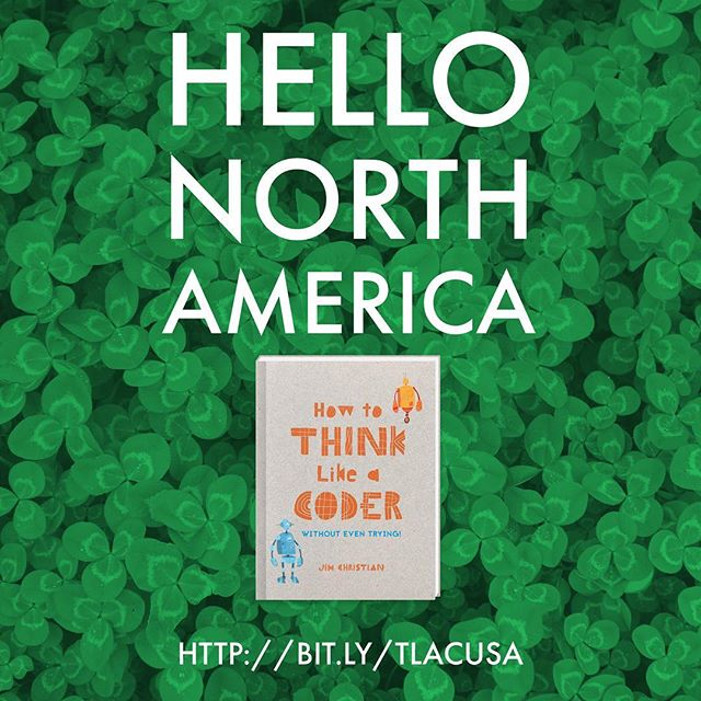 How to Think Like a Coder arrives in North America tomorrow! Secure your copy today http://bit.ly/tlacUSA