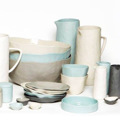 The most amazing ceramic tableware has arrived. Glazed on the inside and unglazed on the outside. #ceramics #glazed #tableware #coastalliving #greatoceanroad #apollobay #handmade #mugs #jugs #ipwr