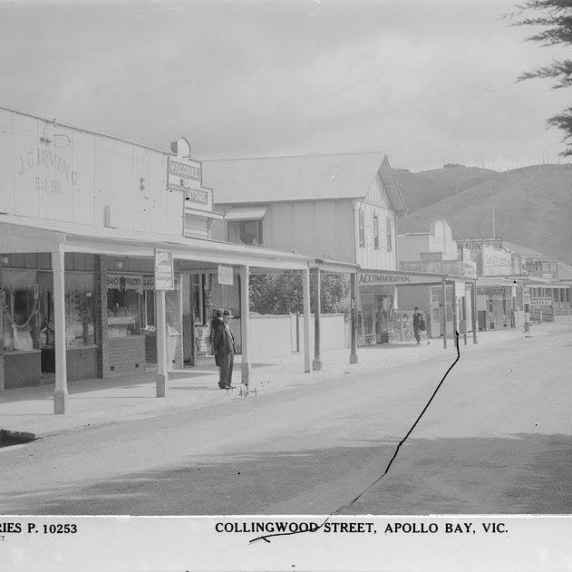Wow! Here's an historical photo of our shop. Not many of the original shops are still in existence. Not a day goes by without us receiving a complimentary comment on the uniqueness of our shop. #history #historical #apollobay  #collingwoodstreet #nowonline #www.bayofapostles.com.au #greatoceanroad #shoponline #greatoceanroad