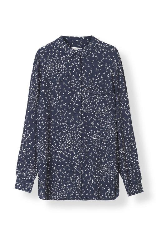 71c277197d GANNI Barra Crepe Shirt