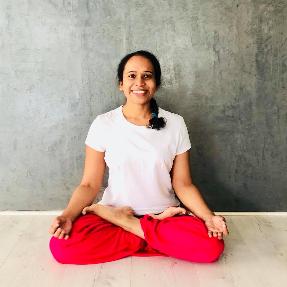 Sruthy loves the simple traditional hatha practice with the rhythmic movement of breath. Teaching Yoga has blessed her with experiences that help her remain humble. 'You begin the Yogic practice, you begin the path to self inquiry', she says. Her favourite asana is pashcimottanasana. Come practice with her every Tuesday and Thursday at the Svatma Studio.
