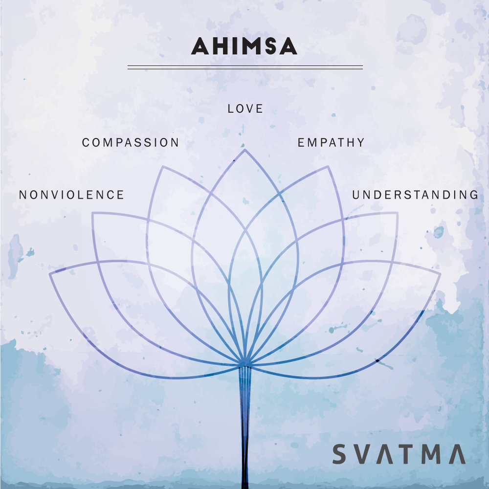 Ahimsa in the modern world requires us to practice unconditional compassion. Tuning our minds and our bodies to see empathy in situations that cause us pain and anger require discipline. Today make a small effort, to find compassion in every situation. Start small, start with yourself. Yoga begins with self.