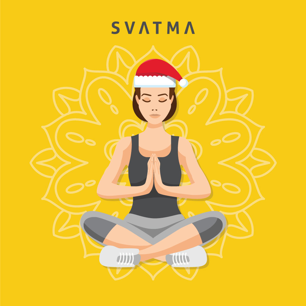 """Let your practice be a celebration of life"" ~ Seido lee deBarros. Wishing you a balanced Holiday season  Svatma"