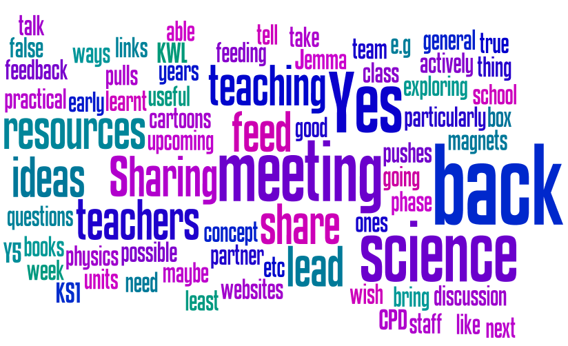 Is there anything from today's CPD that is relevant to your colleagues? If so, how will you share it with them?
