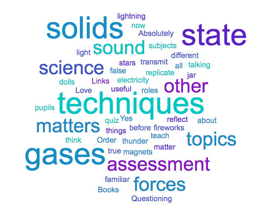 Is there anything from today's CPD that is relevant to teaching other science topics?