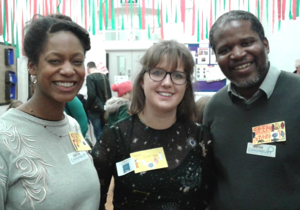 The three STEM Stars who visited our fair - Yolanda, Ellie and Kwasi