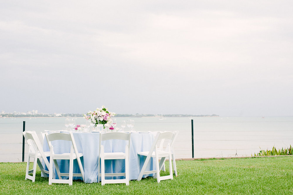 wedding reception overlooking Fannie Bay at East Point, Darwin
