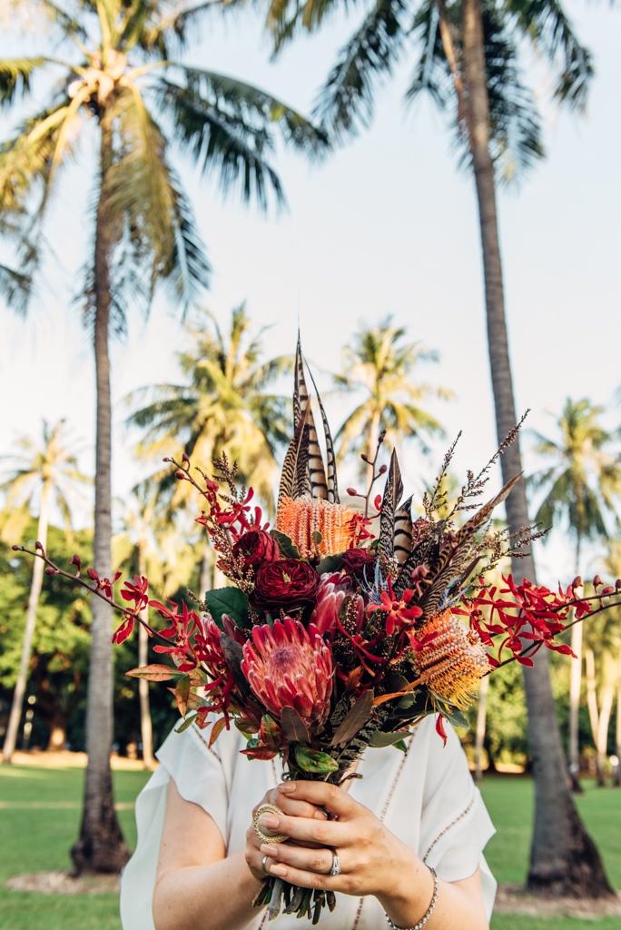 brides bouquet for Darwin Botanic Gardens wedding