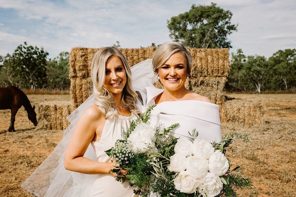 brides bouquet of white peonies