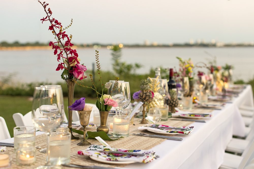a Darwin dry season wedding open air wedding guest tables