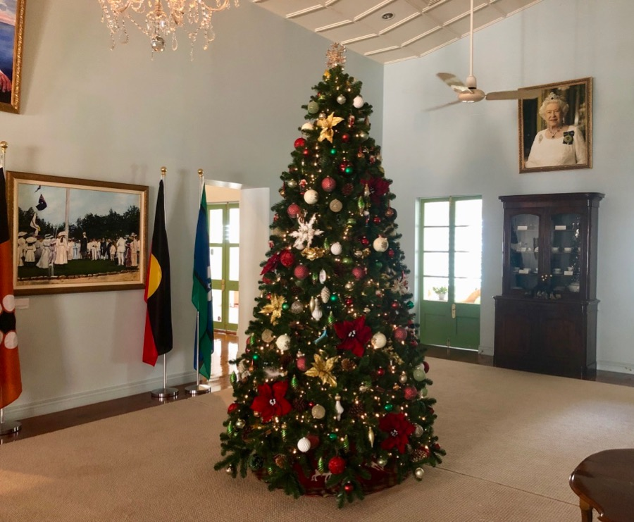 Traditional Christmas tree at Government House in Darwin