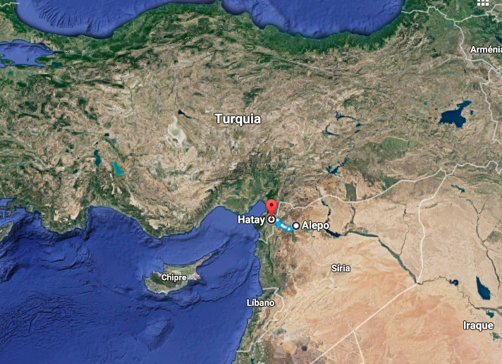 Hatay, 87 km from Allepo, Syria.