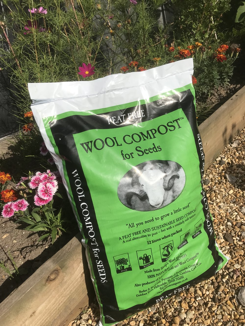 Wool Compost for Seeds - £5.95 - A blended, fine mix to provide the perfect start for your seeds. Healthy green seedlings from a gentle feed. Once roots develop, transfer to Wool Compost.