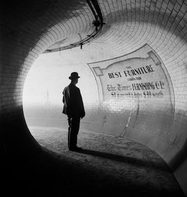 1937 photo of the now derelict British Museum underground station in London.