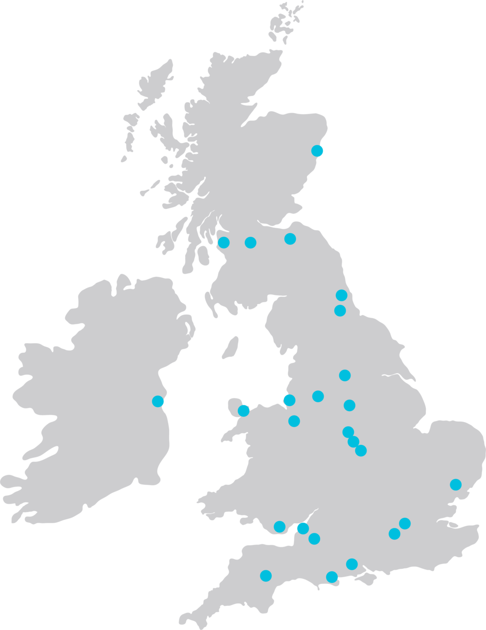 We have locations all over the UK