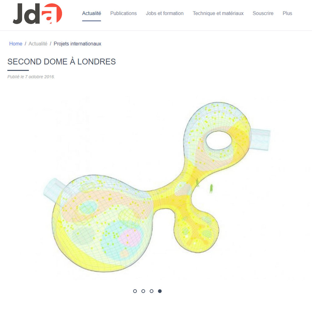 JDA, Le journal de l'architecte. 2016