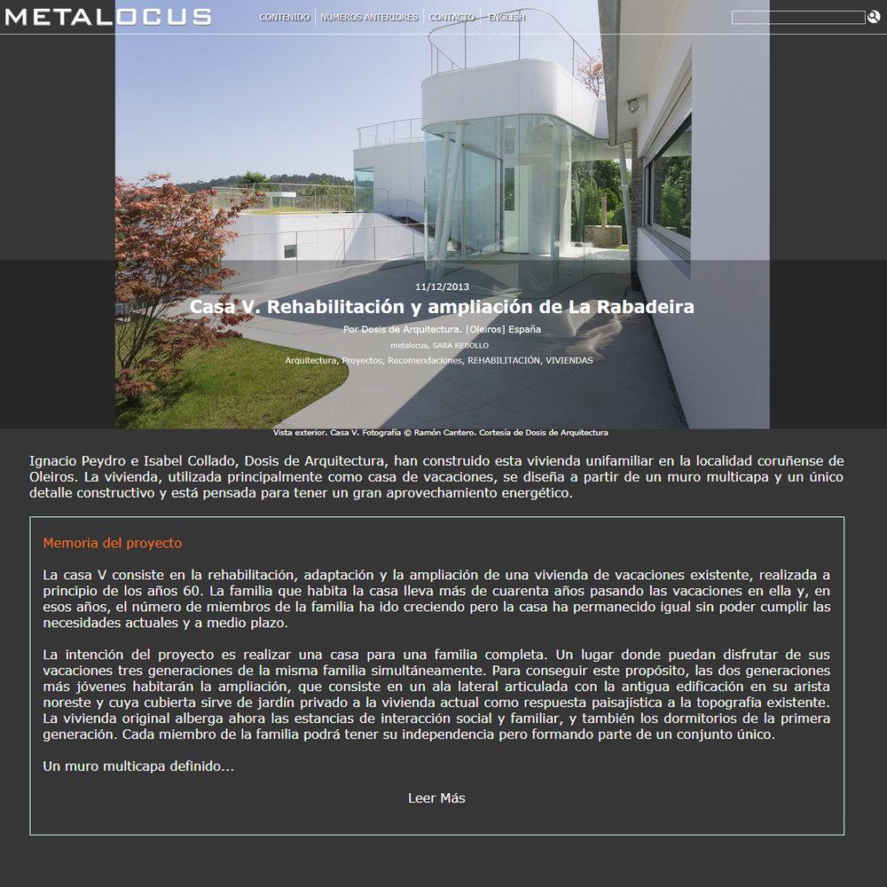 Metalocus. Rebollo, Sara. 2013