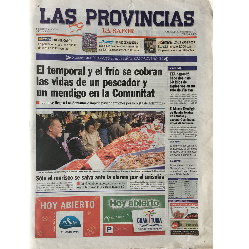 Las Provincias. 2006. (Printed publication)