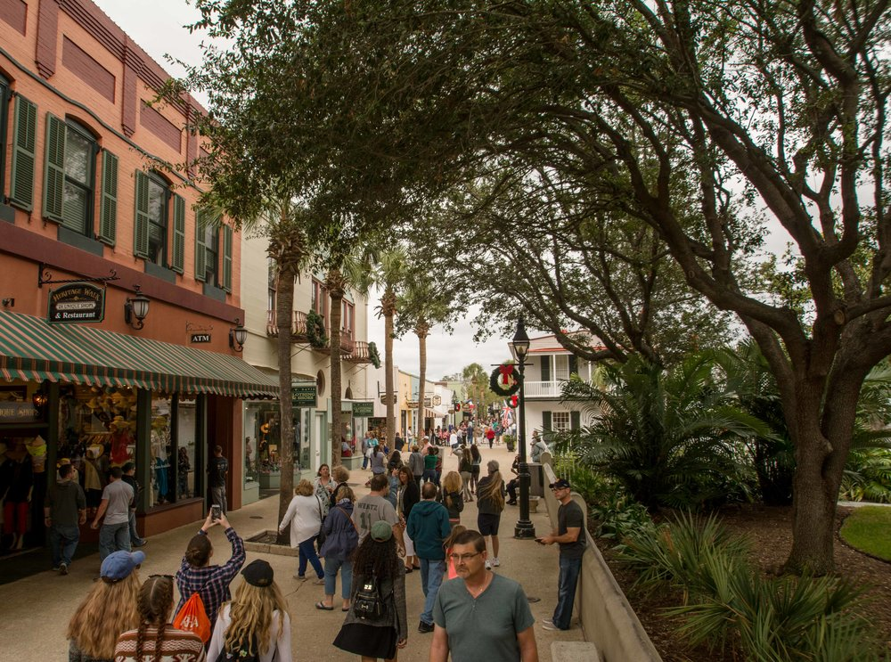 St. Augustine, the nation's oldest city, boasts a lively historic center that pre-dates the car by hundreds of years. People still can't seem to get enough of this pedestrian-oriented gem.