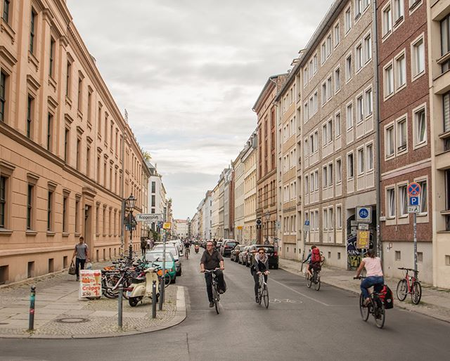 """According to the Copenhagenize Index, bicycling takes 13% of Berlin's mode share—up to 20% in some areas—and it shows. During the afternoon rush, both vehicular cycling (""""taking the lane"""") and riding within marked lanes prove safe, viable options in this bustling city."""