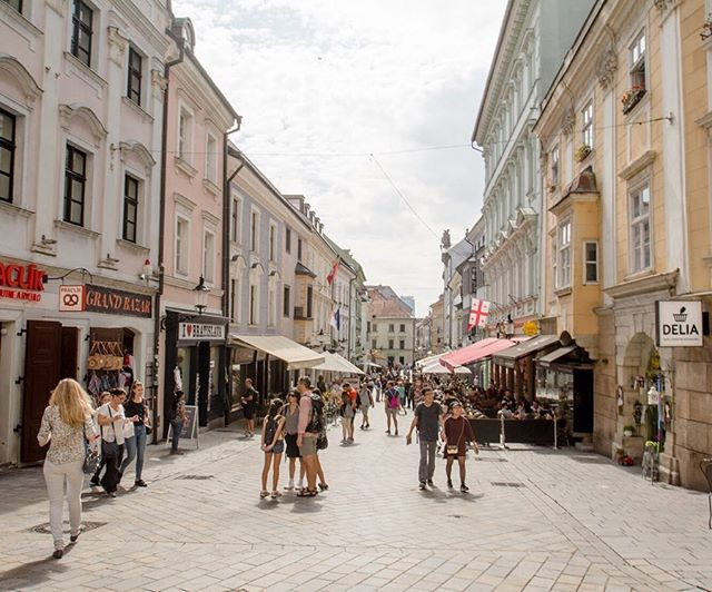 The oft-overlooked border city of Bratislava—tucked between the Czech Republic, Austria, and Hungary—is another small capital full of personality and active civic spaces.