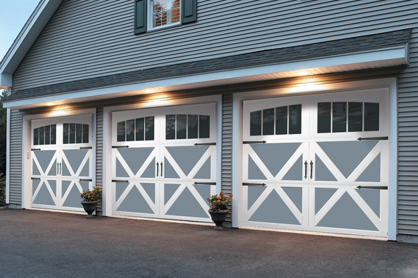 Carriage House Collection. These steel garage doors provide durability along with the beauty of wood garage doors.