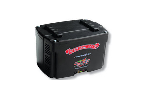 Battery backup. The Battery Back-up provides reliable garage door operation when there is a power outage.