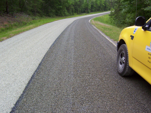 NCDOT, Division 8-Richmond County, NC - STALITE is most often the material of choice in this area, since it can be applied as the ride surface without a blotting seal.