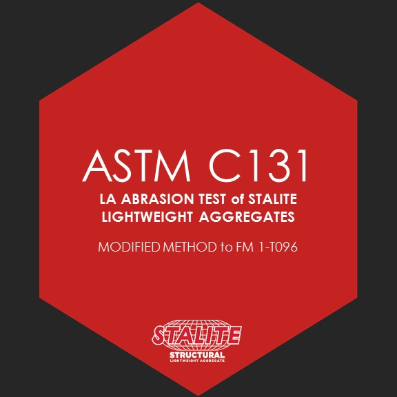 ASTM C131 LA ABRASION TEST    Standard Test Method for Resistance to Degradation of Small-Size Coarse Aggregate by Abrasion and Impact in the Los Angeles Machine