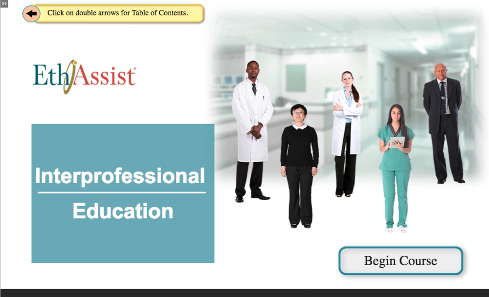 Interprofessional Education in EthAssist.