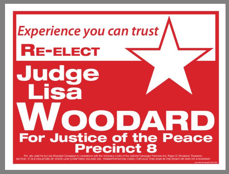 Lisa Woodard for Justice of the Peace