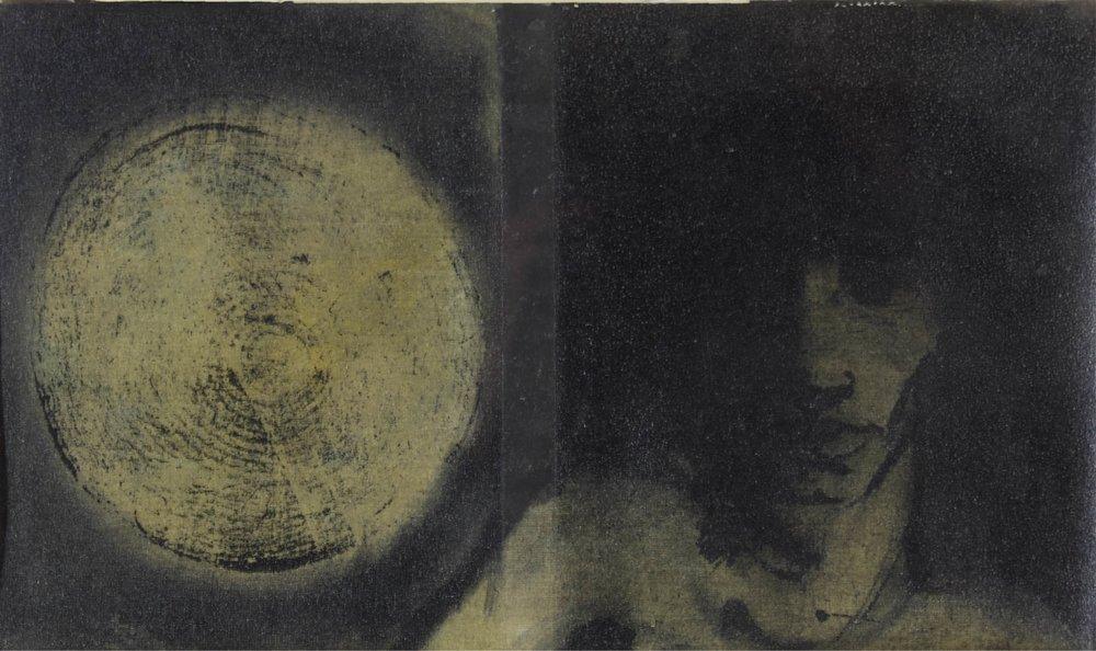 """""""Dark Portrait""""    23"""" x 16""""     Oil on Canvas"""
