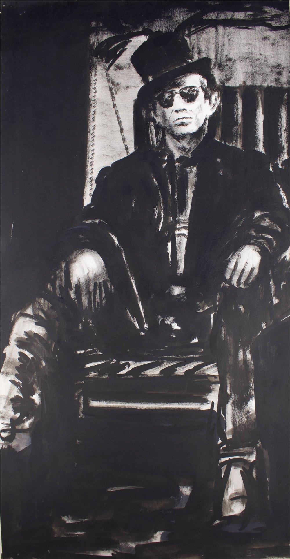 """Keith Richards""     14"" x 27""     Gouache on Paper"