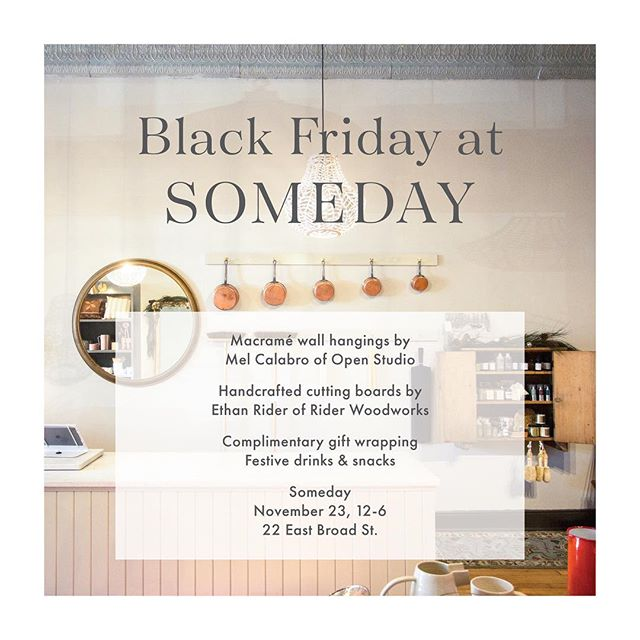 Come hang out at Audie's beautiful shop @shop.someday on Black Friday! I'll have new pieces available (sneak peeks to come!), AND there will be eggnog. It's been FOREVER since I've had a pop-up, hope to see ya there!