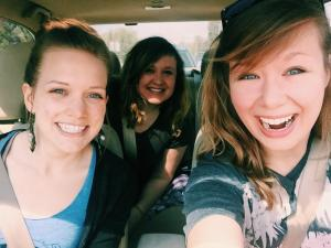 "On the way to the concert- ""Tour de Compadres with my compadres"" -Katie"