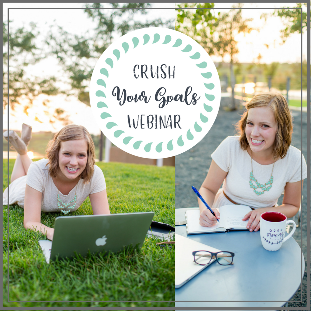 CRUSH Your Goals in 2018! - Get all the tips, tricks, and tools you need to truly CRUSH your goals next year!Catch the replay from my Goal CRUSHING Webinar to learn how to set good personalized goals that you can achieve!