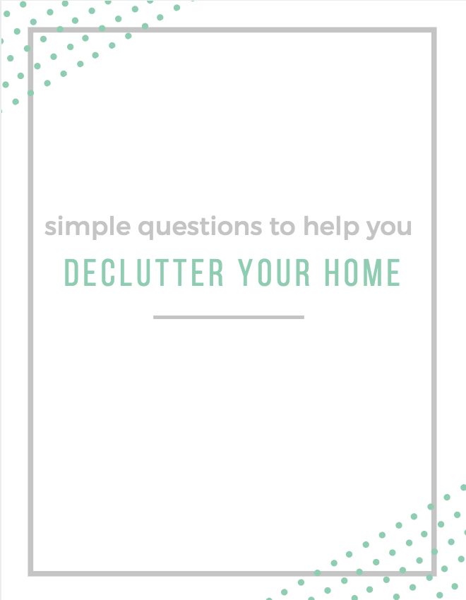 Simple questions to help you weed through the clutter and create a home you love! -