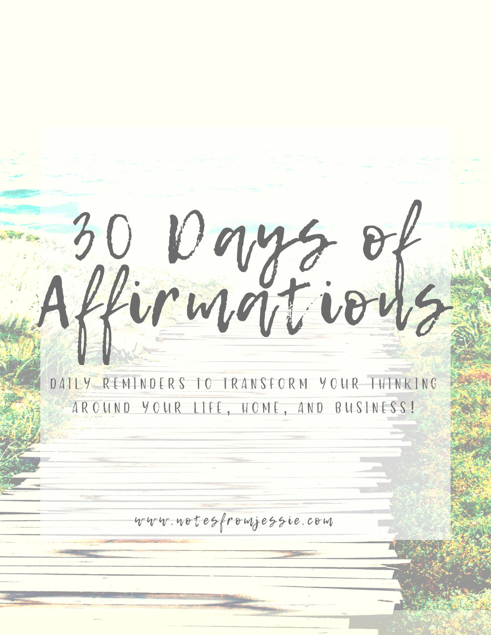 Get your instant download of the 30 days full of affirmations for your life, home, and business! - And don't forget to check your email inbox (and maybe spam folder) for some special emails, too!