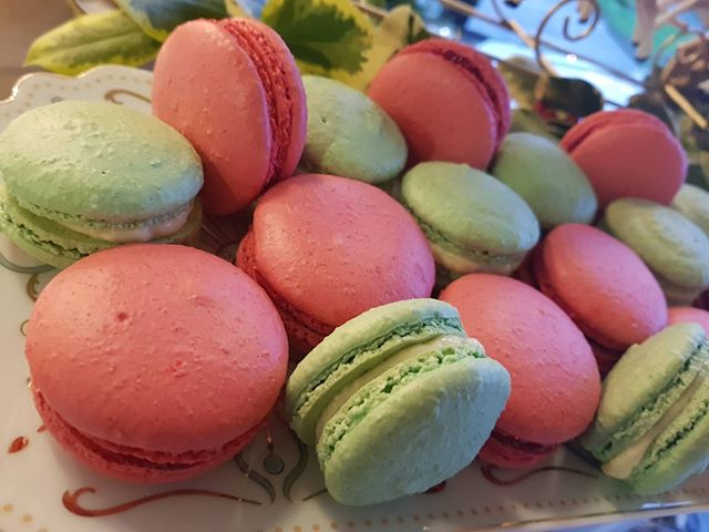 Those colours though! ⠀ .⠀ Home made macaroons available in our G Cafe.⠀ .⠀ #macaroons #redandgreen #cafe #coffeeofinsta