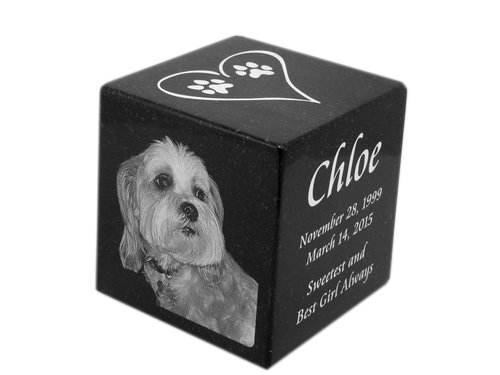 Laser Etched Cube (Jet Black)