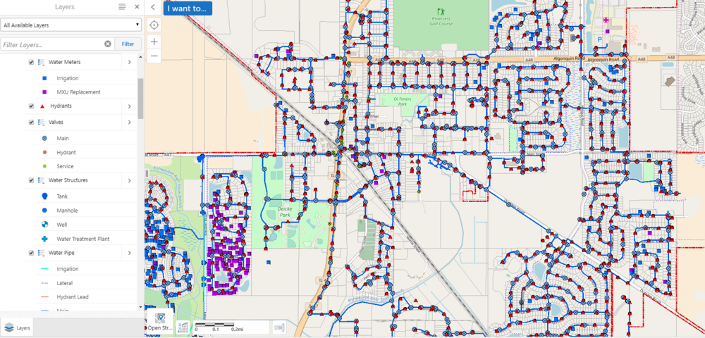 Water Distribution Map