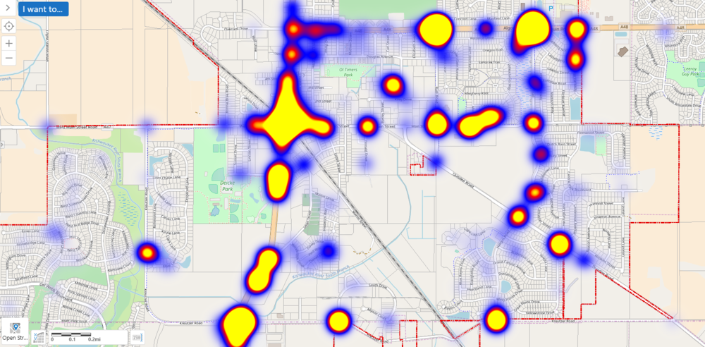 Police Incidents Heat Map