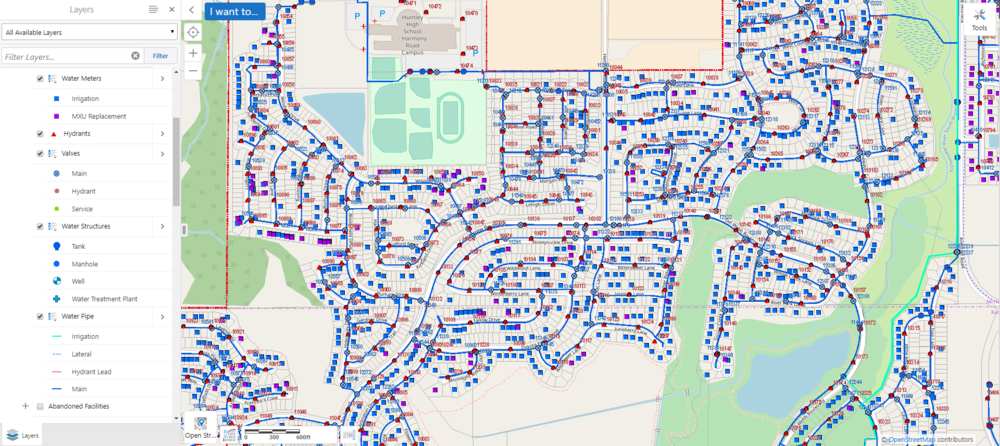 Water Utility Map