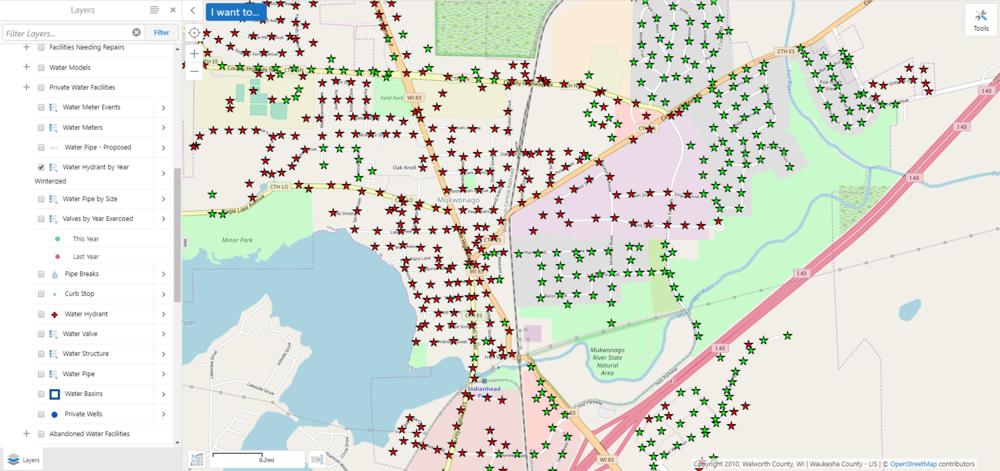 Hydrants by Year Winterized