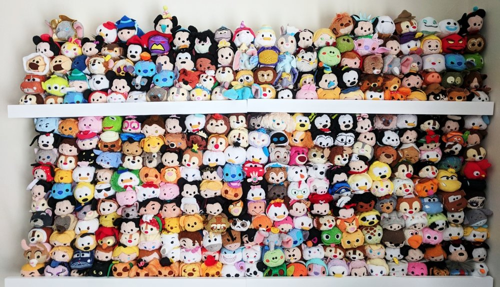 Elsie's complete Tsum Tsum Collection. Photo by Elsie. All Rights Reserved.